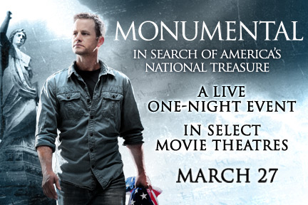 MONUMENTAL: In Search of America's National Treasure LIVE
